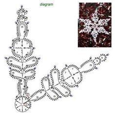 Crochet snowflakes, free crochet pattern - Her Crochet Crochet Snowflake Pattern, Crochet Stars, Christmas Crochet Patterns, Crochet Snowflakes, Christmas Snowflakes, Thread Crochet, Crochet Motif, Crochet Doilies, Crochet Flowers
