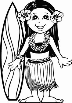 Luau Coloring Pages Free Printables
