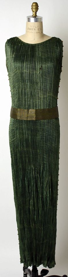 Dress, Evening  Mariano Fortuny  (Spanish, Granada 1871–1949 Venice)