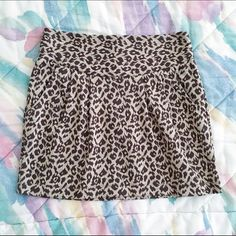 Leopard Print Mini Skirt  Make an offer using the offer button! I accept all reasonable offers and am always willing to negotiate.  I ship next day unless I'm out of town - I will let you know as soon as you purchase when I'll ship!  Sorry, I don't trade. Skirts Mini