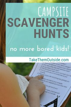 Bring these campsite scavenger hunts on your next family camping trip to keep kids busy | nature activity and outdoor play ideas for kids and families | #printables #campingideas #scavengerhunt #getoutside #takethemoutside