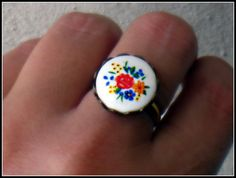 vintage seventies floral ring flower ring cute by alapopjewelry, $16.00
