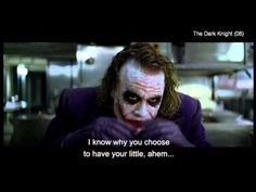 The Dark Knight - If you're good at something, never do it for free