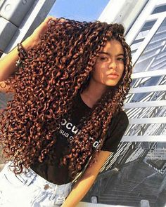 New Hair Long Curly Natural Perms Ideas Long Curly Hair, Curly Hair Styles, Natural Hair Styles, Deep Curly, Curly Girl, Really Long Hair, Hair Looks, Hair Trends, New Hair