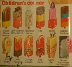 Haunted house ice lolly - like a souped up mini-milk. Lollies have gotten too… 1970s Childhood, Childhood Toys, My Childhood Memories, Sweet Memories, Old Sweets, Retro Sweets, Retro Food, Retro Recipes, Vintage Recipes