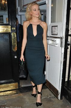 Sexy but chic:Looking the picture of effortless elegance, the pop princess, 25, dressed t...