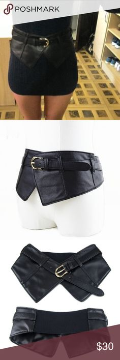 The new Trendy, Wide Belt New fashion ladies ultra wide elastic belt. Faux Leather. Belt strech band. Fits from 26 inch to 37 inch. Accessories Belts