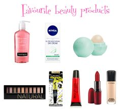 """My fav beauty products"" by sweetlove13 ❤ liked on Polyvore featuring beauty, Neutrogena, Eos, Nivea, Forever 21, L'Oréal Paris, Torrid and MAC Cosmetics"