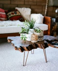 A Hammer & Heels - Worth Stealing: Wood Slab Tables