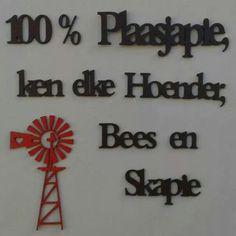 100% plaasjapie Diy Christmas Star, Afrikaanse Quotes, Card Sentiments, Amai, Wedding Quotes, Windmills, Diy Signs, Vinyls, True Words