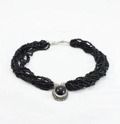 Black Pote Bead Necklace