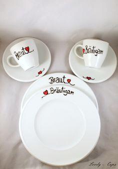 personalisiertes Hochzeitsgeschenk  Kaffeeservice