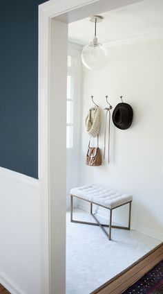 Easy Updates - Have the bench and swap out the builder light with this, add hooks on wall, maybe a mirror?