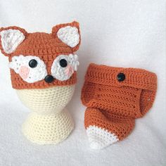 Baby Fox Outfit/Crochet Fox Set/Fox Hat/Baby Animal Hat/Newborn Photo Prop/Character Hat/Crochet Baby Outfit/Baby Shower Gift/Baby Photo  DESCRIPTION  Beautiful crocheted baby fox hat and diaper cover. Dress your cutie i this adorable little outfit for your next photo session. Makes a great shower gift, too!  Sizes available:  - Newborn - 0-3 months.  WARNING: Please do not leave baby unattended while wearing a photo prop costume.  Each item from GypsyStarCreations is handmade and knit or…