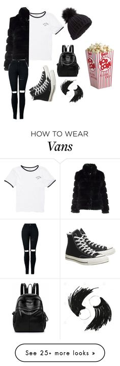 """Fuzzy coats"" by laiayla on Polyvore featuring Vans, Converse and Miss Selfridge"