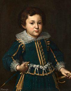 Florentine School, early 17th Century - PORTRAIT OF A BOY, HALF LENGTH, WEARING…