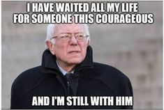 Bernie Sanders will have enormous political clout after the election regardless who wins, think about that. Bernie Sanders For President, Thats The Way, Revolution, Twitter, Bernie Memes, Politicians, Change, Respect, Badass