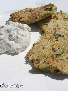 galettes aux flocons de quinoa, à accompagner d'une crème ou d'une tartinade.
