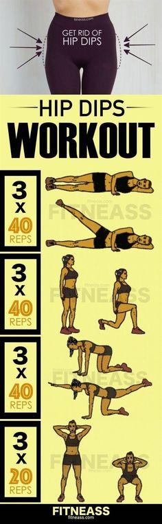 Gym & Entraînement : Description How To Reduce Hip Dips And Get Rid Of Violin Hips #FitnessInspiration