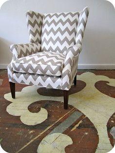 chevron chair...need!