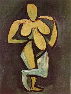 Standing female nude, 1908, Pablo Picasso