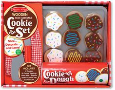 Slice & Bake Cookie Set Wooden Play Food by Melissa & Doug