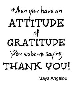 Gratitude inspirational quote Maya Angelou by BeautifulLifeWords
