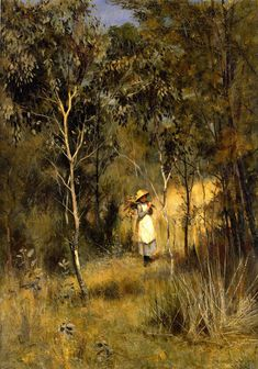 Gathering Mistletoe By Frederick Mccubbin Art Reproduction from Cutler Miles. Choose from Canvas Art, Framed, or Unframed Wall Art. Australian Painting, Australian Artists, City Landscape, Landscape Paintings, Landscapes, Paintings Famous, Oil Paintings, Nz Art, Traditional Landscape