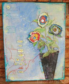 Natural Nester: Mixed Media Canvas