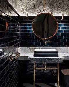 Bathroom inspiration from Pinterest. Metro tiles always work #bahroom #bathroomdesign #metrotiles #interiordesign #interiors #decor