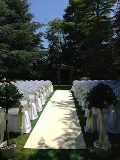 Outdoor ceremony at Rufflets created by Zenith Events.