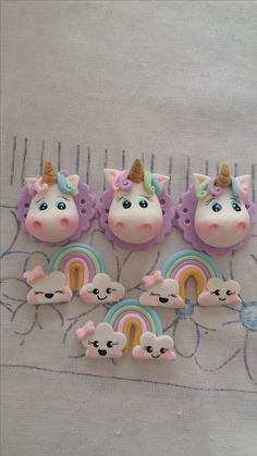 Unicorn and rainbow clouds