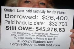 A lifetime of debt for our students