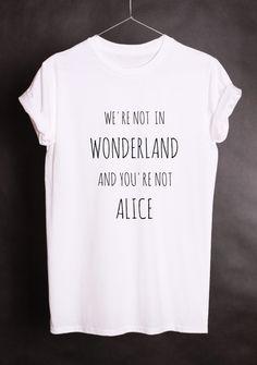 Camisetas con mensaje - Oversized Unisex Printed T-shirt ALICE - hecho a mano por Lukatee en DaWanda