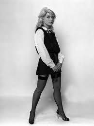 This Blondie - Debbie Harry Art Print is created using state of the art, industry leading Digital printers. Debbie Harry Blondie singer dressed as schoolgirl 1978 Blondie Debbie Harry, Debbie Harry Hot, Debbie Harry Style, Celebrities In Stockings, Celebrity Stockings, Rock And Roll Girl, St Trinians, Women Of Rock, Musica