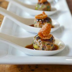 Andrew Zimmern's Duck Tsukune - Hungry Crowd   Food & Wine