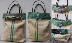 """KussenvanPaula: 'T AS leuk....... (graanzak """"tote bag"""" met tribal ..."""