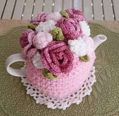 Ravelry: Rose Garden Bouquet Tea Cosy pattern by Marcelline Simonotti