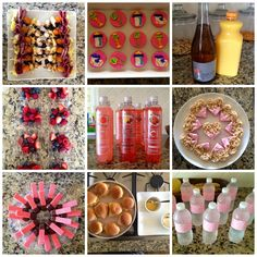 Treats and snacks for a baby girl sprinkle