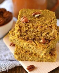 Maple Pumpkin Oatmeal Breakfast Bars - Gluten-Free Breakfast Recipe