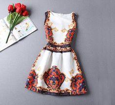 Minikleider - Frauen Orange Blumenkurzschluss -Kleid - ein Designerstück von DIYtime bei DaWanda