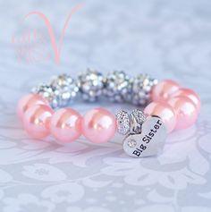 Super Sparkle Big Sister bracelet. Big sister by LittleMissVShop                                                                                                                                                                                 More