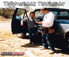 Owner, Jerry Guzzo on the Job with a Carpenter Contractor in 1989!  #GuzzoStucco #ThrowbackThursday #TBT #Owner #Stucco #Masonry #Carpenter #Contractor #1989