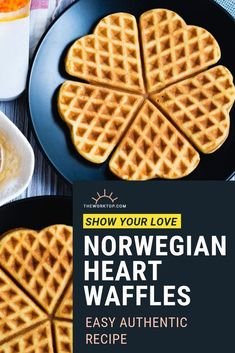 The Best Norwegian Waffle Recipe This heart shaped waffle makes a delicious breakfast You ll love these easy to make thin waffles from Norway waffles wafflerecipes theworktop Heart Shaped Waffle Recipe, Waffle Recipes, Brunch Recipes, Breakfast Recipes, Brunch Ideas, Pancake Recipes, Crepe Recipes, Norwegian Waffles, Breakfast