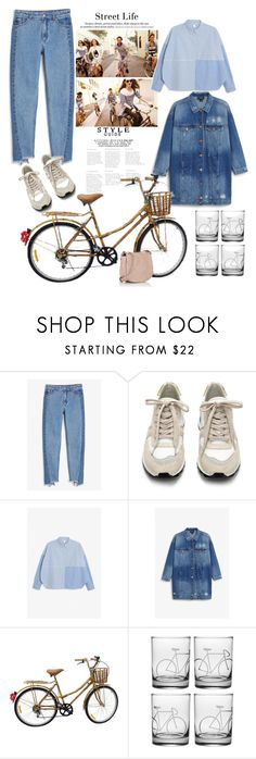 """""""denim"""" by viktoria-khovailo ❤ liked on Polyvore featuring Monki, H&M, Citizen, Deux Lux, denim and look"""