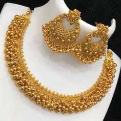 PC matt finish jewel at Rs 1399 with shipping Direct message to place order Shipping is extra the damage… Gold Bangles Design, Gold Earrings Designs, Gold Jewellery Design, Necklace Designs, Gold Jewelry, Gold Necklace, Ring Earrings, Beaded Earrings, Silver Earrings