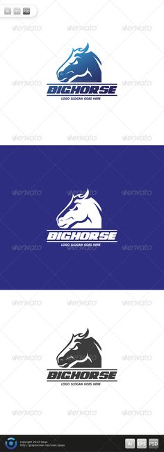 Big Horse Logo — Photoshop PSD #professional #black • Available here → https://graphicriver.net/item/big-horse-logo/6486457?ref=pxcr