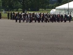 Band of HM Royal Marines Portsmouth formed up ready