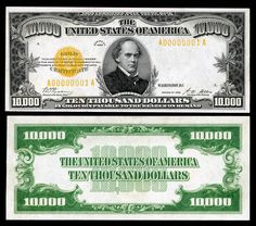 Large denominations of United States currency Old Coins, Rare Coins, Money Template, Passport Card, Honda Passport, Money Notes, Coins Worth Money, Gold Money, Coin Worth
