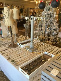 Holiday trunk show display for Lisa Jill Jewelry